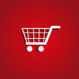 Paper shopping cart Royalty Free Stock Photography