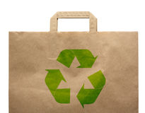 Paper shopping eco bag Stock Photography
