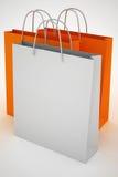 paper shopping för påsar Arkivbild