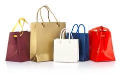 Paper shoppingpåsar royaltyfri fotografi
