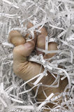 Paper shred fist royalty free stock photo