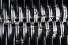 Paper shredder blades Stock Photo