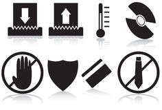 Paper Shredder Icons - Black and White Royalty Free Stock Photography