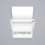 Paper Shredder Machine Vector Illustration Stock Photos