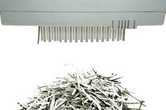 Paper shredder and shred mount Stock Photos