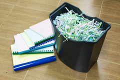 Paper in the shredder Stock Image