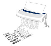 Paper Shredder with text. Vector art of a shredder with text in it on white background vector illustration