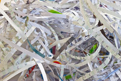 Paper Shredding. Important documents shredded to prevent identity theft Royalty Free Stock Photos