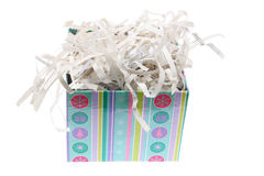 Paper Shreddings in Gift Box Stock Images