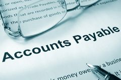 Paper with sign Accounts payable. Business concept stock photo