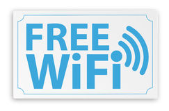 Paper Sign Free WiFi. Paper sign with text Free WiFi stock illustration