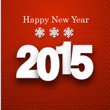 2015 paper sign. Happy 2015 new year. Vector paper illustration Royalty Free Stock Images