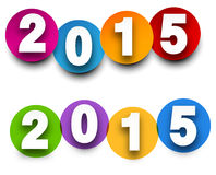 2015 paper sign. Happy 2015 new year. Vector paper illustration Royalty Free Stock Photos