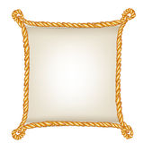 Paper sign with rope frame isolated Royalty Free Stock Photo