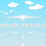 Paper silhouette aircraft flying in the sky Royalty Free Stock Images