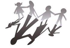 paper silhouette för familj royaltyfri illustrationer