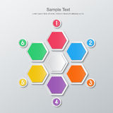 Paper six step infographics Stock Images
