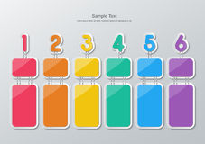 Paper six step infographics Stock Image
