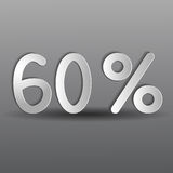 Paper sixty percent Royalty Free Stock Image