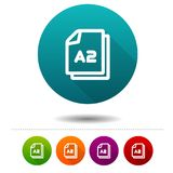 Paper size A2 icon. Document DIN symbol sign. Web Button. Esp10 Vector royalty free illustration