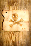 Paper with skull and crossbones Royalty Free Stock Photos