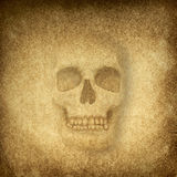Paper skull Royalty Free Stock Photography