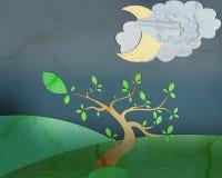 paper sky för natt Arkivbild