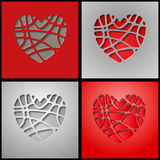 Paper slices of hearts Royalty Free Stock Photo