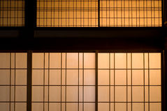 Paper sliding door Royalty Free Stock Photography