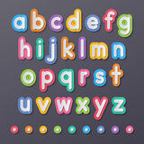 Paper small alphabet letters Royalty Free Stock Photography