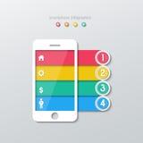 Paper smartphone infographics Stock Image