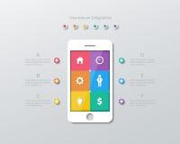 Paper smartphone infographics Stock Photos