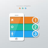 Paper smartphone infographics Royalty Free Stock Photo