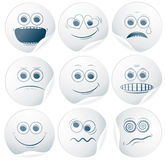 Paper Smiley 2. Set of Paper Smiley Stickers, Labels Stock Photos