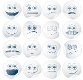 Paper Smileys. Set of Paper Smiley Stickers, Labels Royalty Free Stock Image