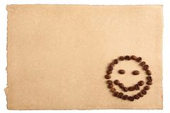 Paper and a smiling face Stock Photo