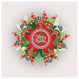 Paper smycken för glad jul Arkivfoto