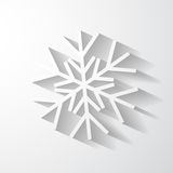 Paper snowflake applique. Stock Photos