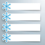 Paper Snowflake Banners Stock Image