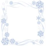 Paper snowflake border Royalty Free Stock Image