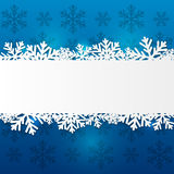 Paper snowflake border Royalty Free Stock Photos
