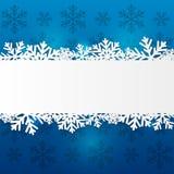 Paper snowflake border Royalty Free Stock Photos
