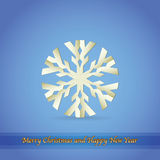 Paper snowflake, christmas theme Royalty Free Stock Image