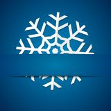 Paper snowflake on colored background Stock Photo