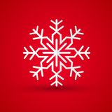 Paper snowflake on colored background Stock Photos