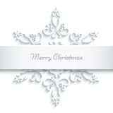 Paper snowflake frame Stock Photography