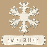 Paper snowflake frame and Season's greetings Stock Photography