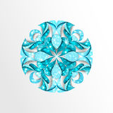 Paper snowflake with stars and twinkly lights Royalty Free Stock Photo