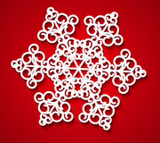 Paper snowflake Royalty Free Stock Images