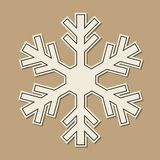 Paper snowflaken royaltyfri fotografi